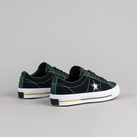 Converse One Star Pro Suede OX Emerald Black Shoes
